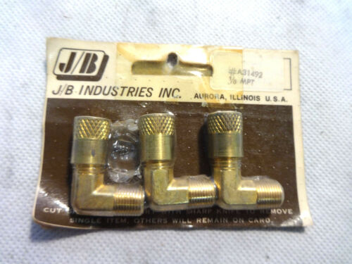 NEW PACK OF 3 J//B A31492 1//8MPT ELBOW