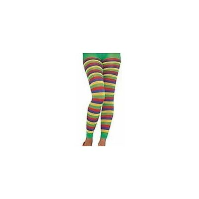 Pride Rainbow Footless Tights Festival Parade Party Fancy Dress Accessories