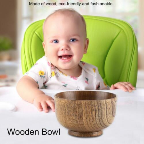 Japanese Style Wooden Bowl Soup//Salad//Fruit Rice Bowls Natural Wood Tableware