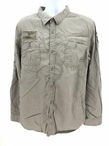 I Jeans by Buffalo 100% Cotton Long Sleeve Button Up Shirt Mens XL Regular Green