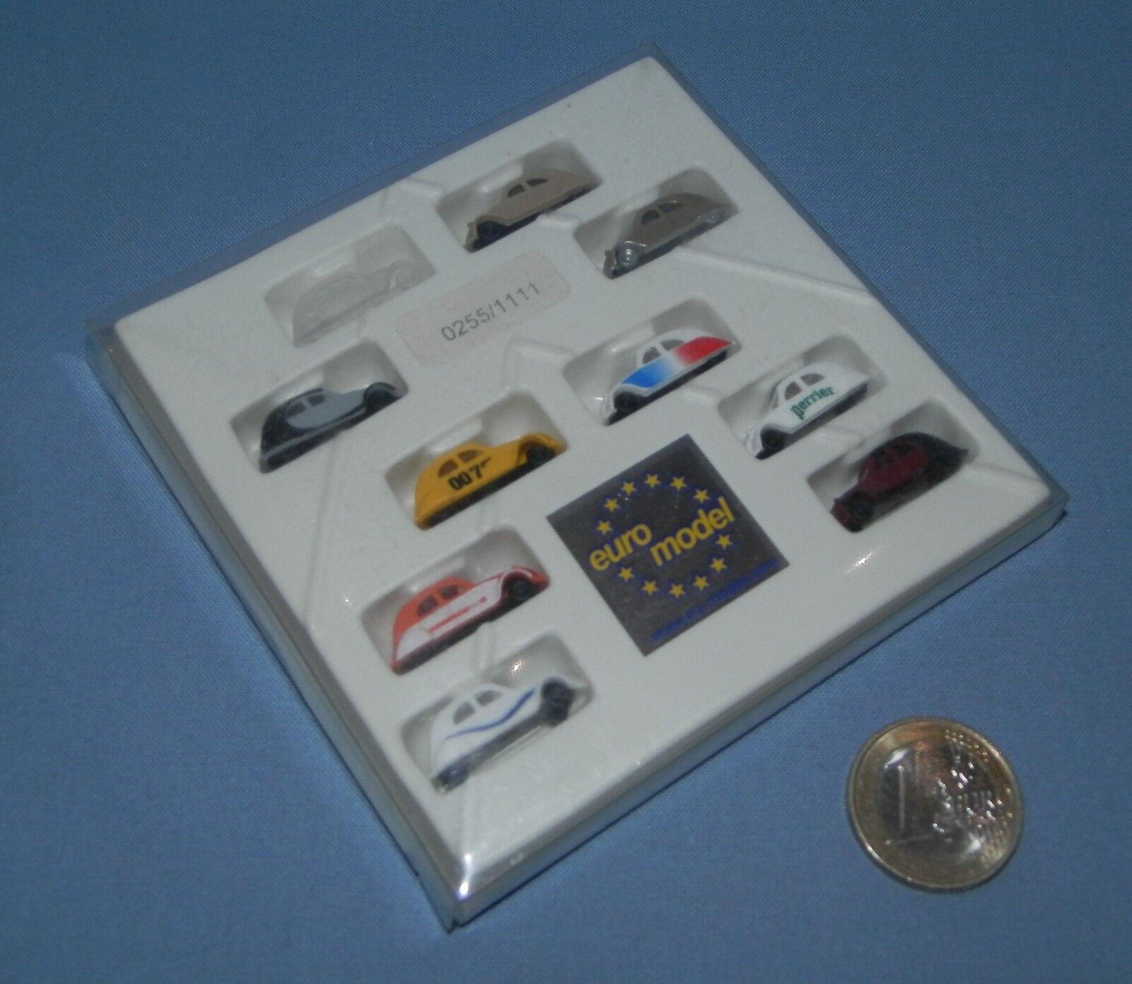 Euromodel 1 160   Coffret 2cv Club Royaume Uni de 2005 = 10 x Citroen 2cv