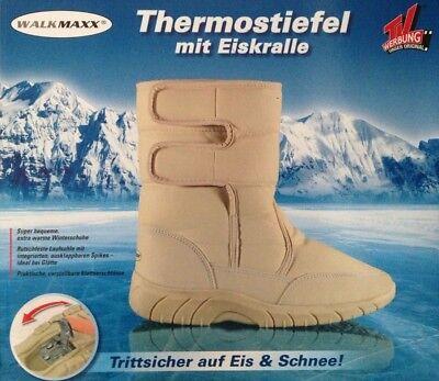Walkmaxx Winterstiefel Thermostiefel mit Eiskralle Boots Winterschuhe Stiefel