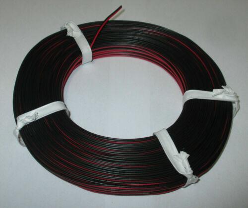 Zwillingslitze rot//schwarz  50m 1m = 0,279€ --NEU