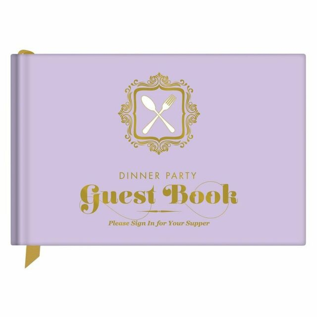 Let your guests eat, drink and be deliciously witty Dinner Party Guest Book