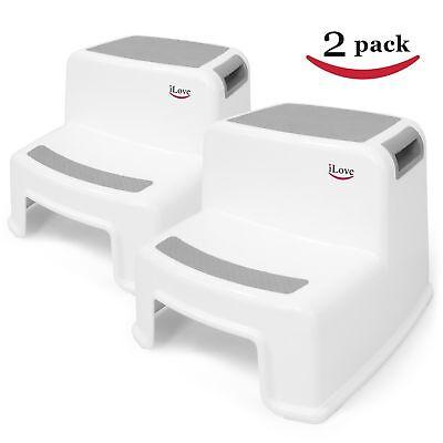 2 Step Stool For Kids 2 Pack Toddler Stool For Toilet