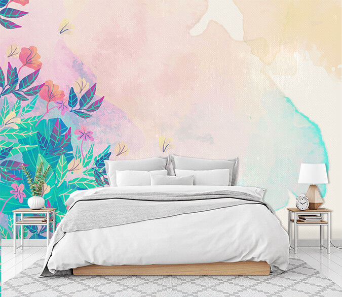 3D Flower Painting 761 Wallpaper Mural Paper Wall Print Murals UK Jenny