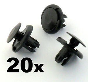 20x-Plastico-Honda-Parrilla-Horizontal-Rueda-Arch-Forro-Protector-de-salpicaduras-amp-parachoques