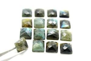 Square-Natural-Labradorite-Gemstone-Calibrated-Cab-Faceted-Cabochon-Bulk-12x12mm