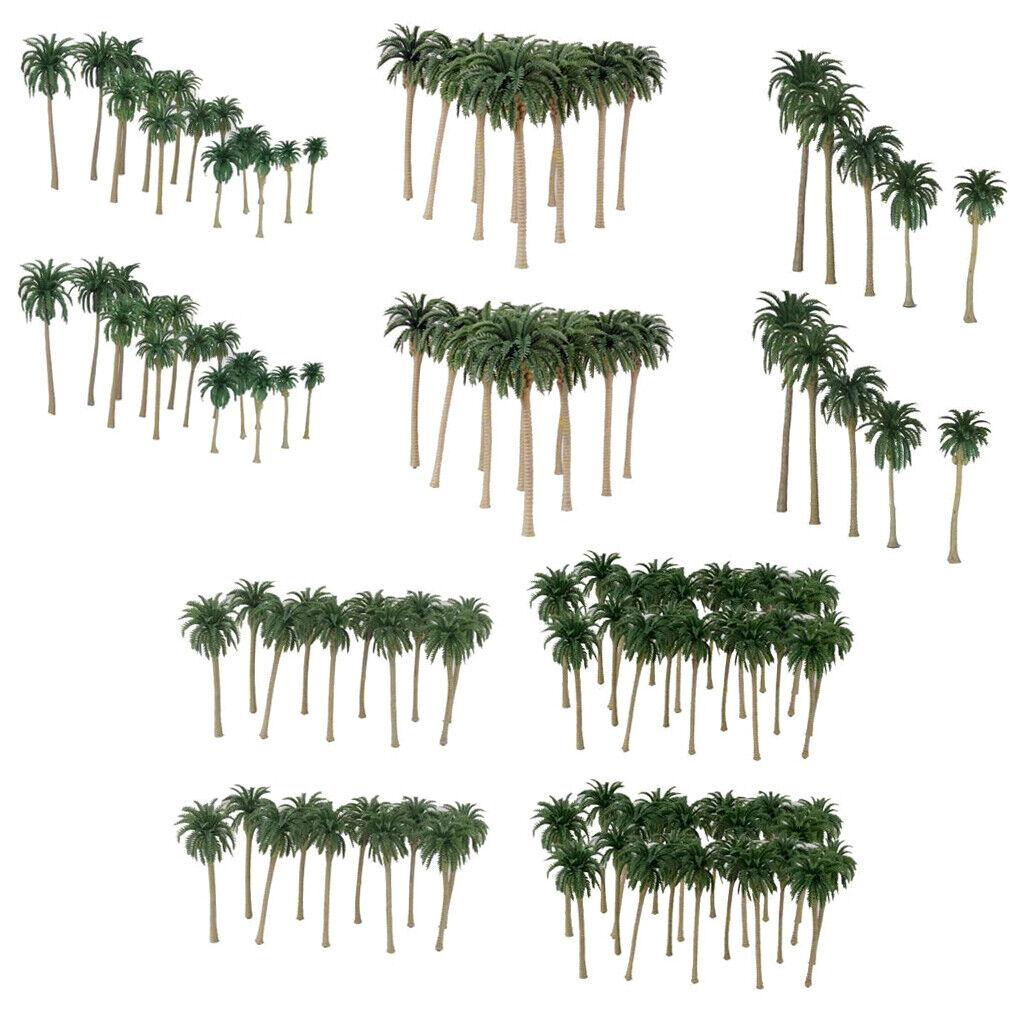1 65 & 1 150 Plastic Model Coconut Palm Trees Train Model Set Accessories