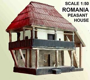 Romanian-Peasant-House-3D-model-Architecturally-Correct-scale-1-50-size-8-034-x7-5-034