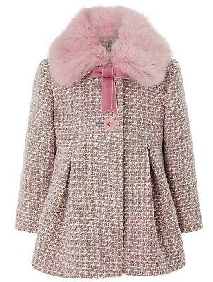 Preciso Monsoon Ragazze Bambini Phoebe Tweed Invernali In Pelliccia Sintetica Cappotto Giacca 1 A 13 Anni-