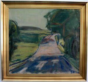 Landweg-zwischen-Wald-und-Feldern-Expressionist-Mitte-20-Jh-signiert-G-Di