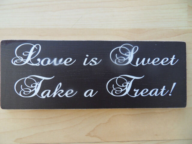 Shabby Love is Sweet wedding plaque sign chic and unique