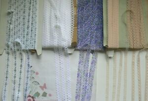 Flat-Polyester-MIXED-COLOUR-Lace-11-22mm-Wide-5-amp-10-Metres-4-Style-Choice-FLT6