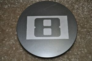 8 Wheels Level C-378-1 80804 Black Wheel Snap In Center Cap
