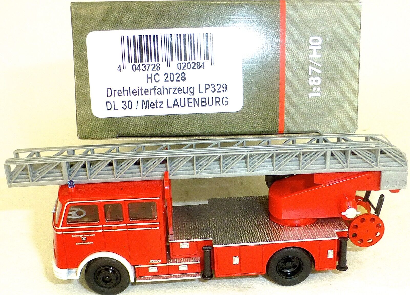 Turntable Ladder Vehicle Lp329 Dl30 Metz Lauenburg Heico Hc2028 Nip Μ