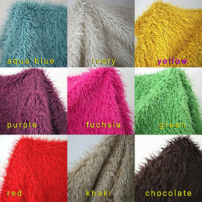"""Mongolian Curly Sheep Faux Fur Fabric Newborn Baby Photography Props 60"""" BTY"""