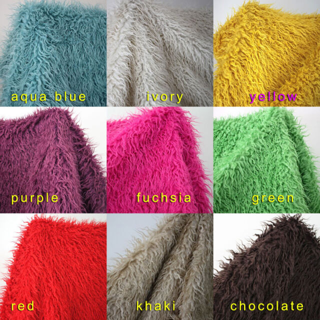 "Mongolian Curly Sheep Faux Fur Fabric Newborn Baby Photography Props 60"" BTY"