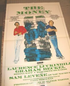 "1976 THE MONEY 27"" x 41"" One-Sheet Movie Theater Poster GD - Laurence Luckinbill"