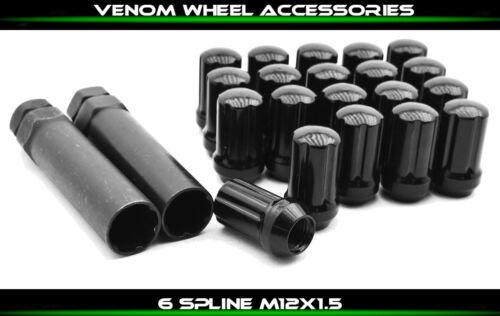 20 Forged Spline Tuner Lug Nuts M12x1.5 2 Socket Keys