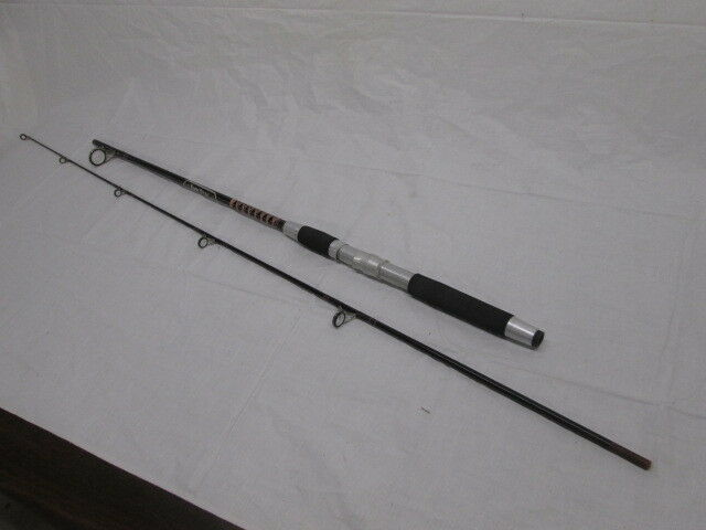 1 Vintage NOS 1920 Kwik Stix Magnum 6'6  Blk Red 2pc Med Action Fishing Rod