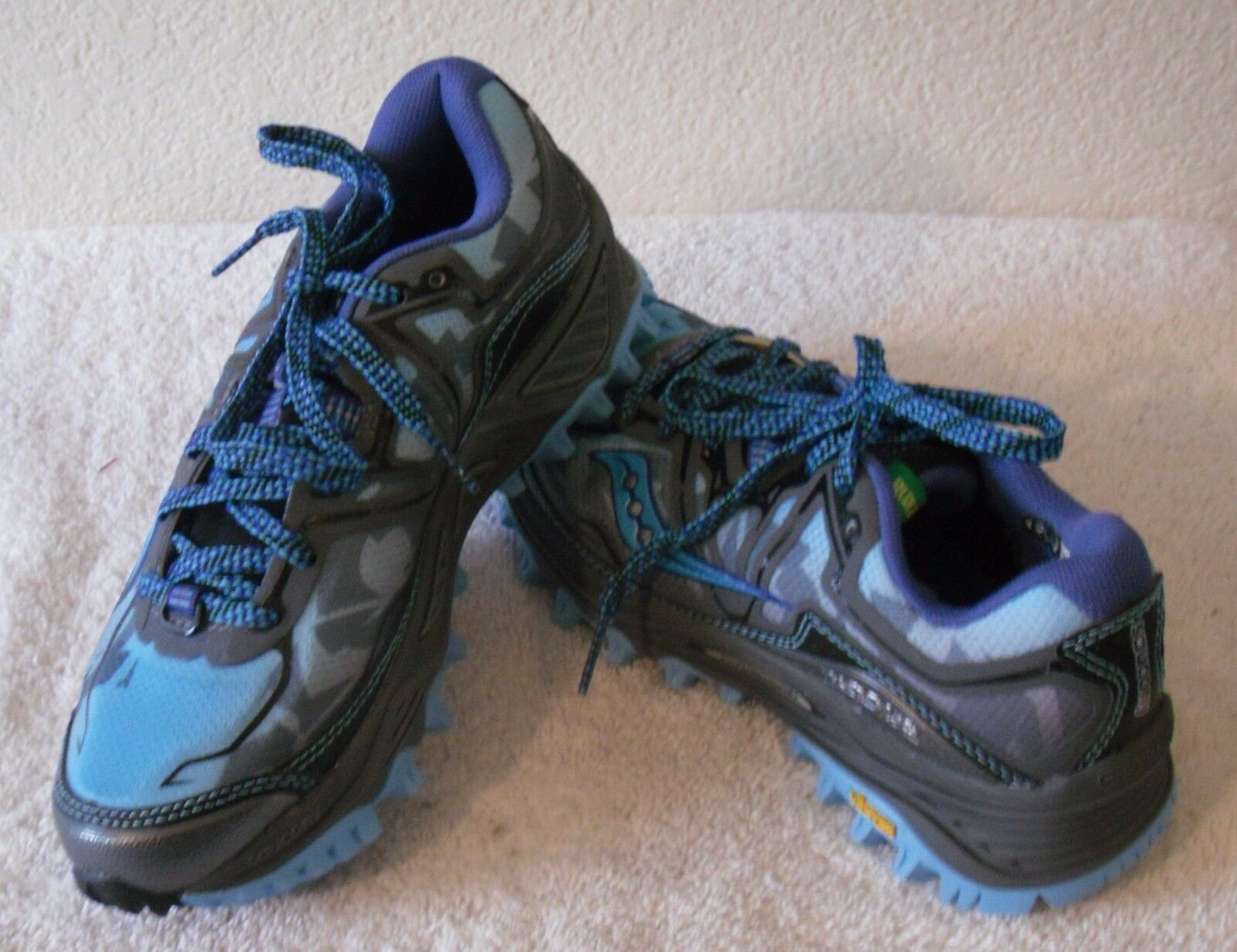 NEW Saucony Xodus 6 Womens Hiking Trail Running shoes 5.5 bluee Grey MSRP 120