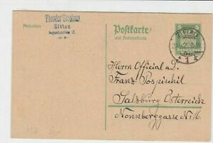 germany 1925 stamps card ref 18958