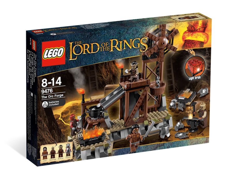 LEGO 9476 THE LORD OF THE RINGS THE ORC FORGE NUOVO NEW NISB