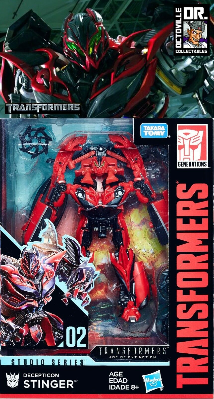 Transformers Studio Series 02 Deluxe Age of Extinction Stinger Brand New