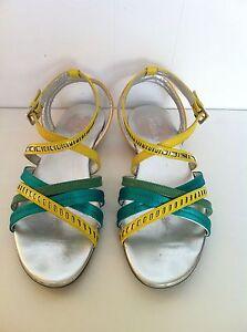 Sandali HOGAN DONNA Valencia Laser Sandal N.37 Col. Giallo/VerdeSmeraldo Usato