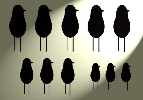 A4 Plantilla de Plástico Shabby Chic Divertido Pájaros Vintage Estilo Francés Pared 297x210mm