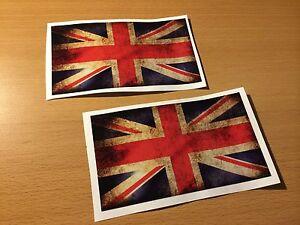 2x-UK-Flagge-Aufkleber-vintage-Old-School-Custom-Mini-Cooper-Racing-Retro-Look