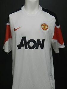 Nike Manchester United Away Jersey 2010-2011 White- Multiple Sizes - Classic!