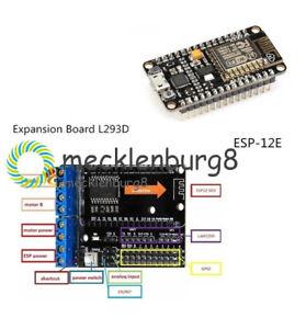 Lua-NodeMcu-ESP8266-CP2102-Development-Board-amp-L293D-ESP-12E-Wifi-Motor-Drive