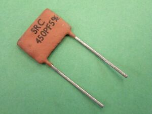 1 Pc RS Vintage Radio Silver Mica Capacitor 350v 1/% 330pF CX45
