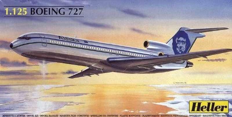 Heller 80447 Boeing 727 Alaska Air New Airplan Plastic modellllerler Kit 327951080478