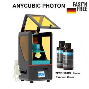 Anycubic SLA/LCD Résine Photon Imprimante 3D+2pcs*500ml UV Resin 3D Printer EU
