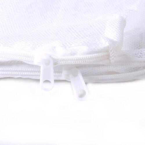 5x White Mesh Aquarium Filter Zppered Net Bag Fish Tank Zip Filter Media Bags