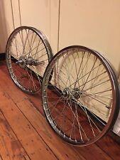 "NOS Old School 20"" Chrome Femco BMX Wheelset- Coaster-36h-Thick Gauge Spokes"