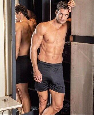 Da Uomo Active Wear Gym dissidente Mesh Insert sport fitness shorts hilburn 1g7785