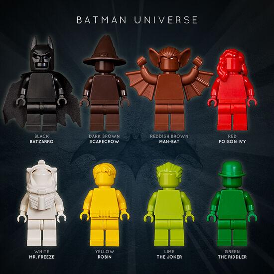 LEGO   SET OF 8 BATuomo UNIVERSE MONOFIGS  il più alla moda