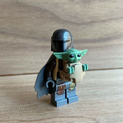 "Lego /""The Child/"" Minifigure /& Mandalorian w// custom cape ~ Baby Yoda 75292"