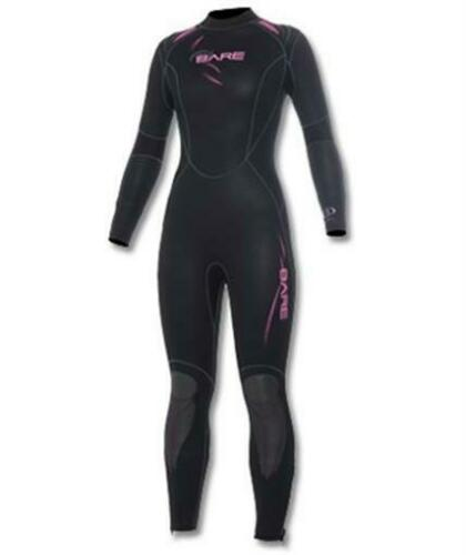 NEW 5MM BARE WOMENS SPORT FULL SCUBA DIVING WETSUIT SIZE 10T PINK BLACK COOL