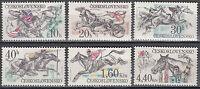 CSSR / Ceskoslovensko Nr. 2469-2474** Pferderennen in Pardubice