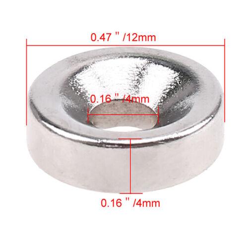 1-100Pcs N35//N50//N52 Strong Round Block Hole Magnets Rare Earth Neodymium Magnet