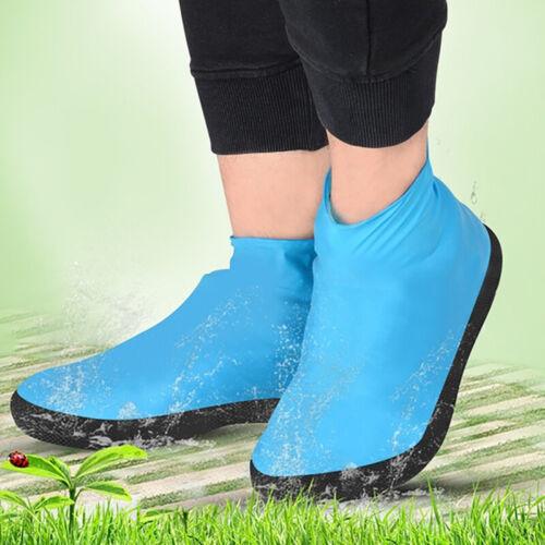 Cycling Waterproof Shoe Boot Gear Latex Rain Cover Reusable Anti-slip New