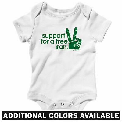 a5c87718 Iran Solidarity One Piece - Iranian Peace Sign Baby Infant Creeper Romper NB -24M