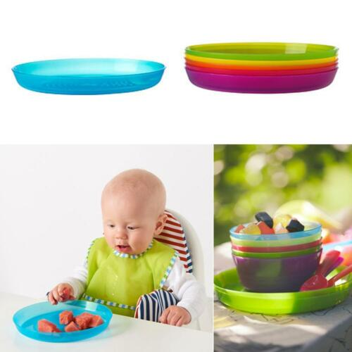 Kalas Kids Children Coloured Plates Everyday Meal Dishwasher Microwave Safe 19cm