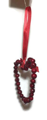 Coeur Décoration De Noël Hanging Tree Porte Artificielle Rouge Berry Couronne Home