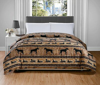 Ducks and Dogs Cottage Creek Comforter Twin Woodland Cabin